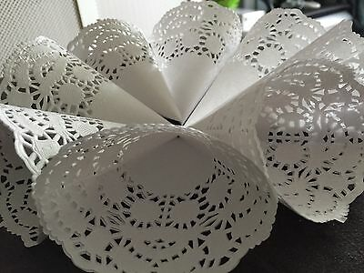 100 Ready Made Lace cones wedding Confetti  shabby chic.Gifts.Favour Rrp£100