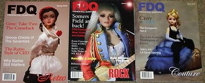 Fashion Doll Quarterly Magazines Lot of 3 from 2006