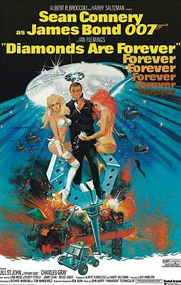 James Bond 007 - Diamonds Are Forever Poster - Sean Connery