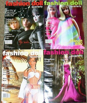 Fashion Doll Quarterly Magazines Lot of 4 from 2016