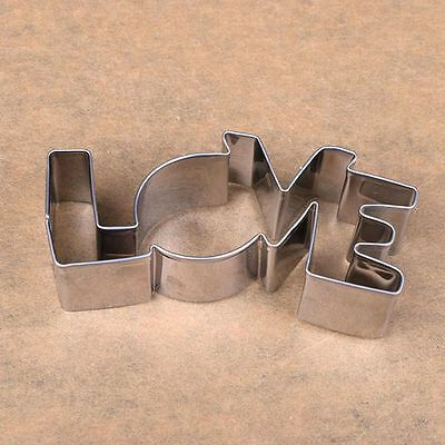 Cutter Pastry Forms Confectionery Baking LOVE Letter Stainless Steel Mold