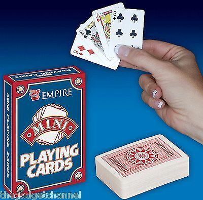 Mini Small Light Travel Playing Cards Childrens Boys Mens Toy Novelty Gift