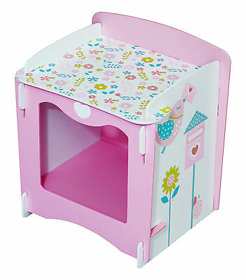Pink Storage Unit Kids Bedside Table Cabinet Childrens Furniture Kids Bedroom  sc 1 st  PicClick UK & PINK STORAGE UNIT Kids Bedside Table Cabinet Childrens Furniture ...