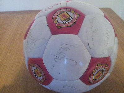 Vintage Signed Manchester United Football