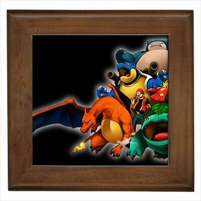 Charizard Venusaur Blastoise Pokemon Framed Tile - Wall Art Decor