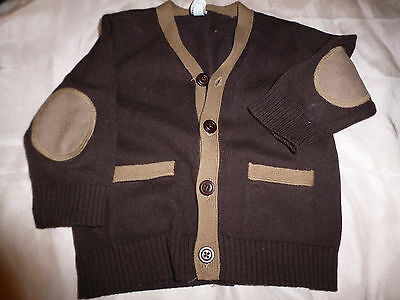 baby gap BABY BOY TWO TONE CARDIGAN  SWEATER 6-12 MONTHS INFANT