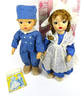"Vintage 1950's Original Terri / Jerri Lee 16"" Dolls In Dutch Outfits With 1 Box"