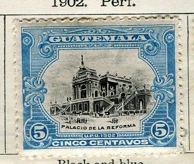 GUATEMALA;  1902 early pictorial issue Mint hinged 5c. value