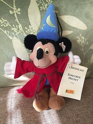 Steiff Sorcerer's Apprentice Fantasia Mickey Mouse Ornament Limited Edition