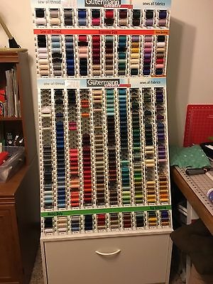 Gutermann thread rack. 3 piece section. Excellent brand condition. Will separate