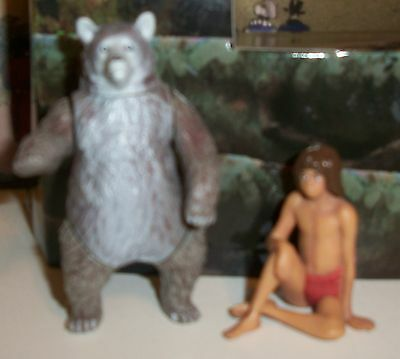 Disney The Jungle Book BALOO and MOWGLI Action Figures LOT OF 2  FREE SHIPPING