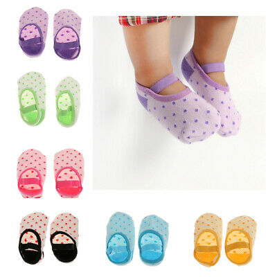 1 pair/lot Baby Toddler Girl Lace Cotton Anti-Slip Socks Slipper for 3-18month