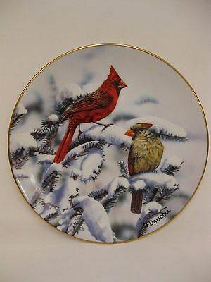 Favorite American Songbird plate collection Red Cardinals of Winter