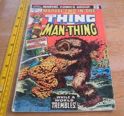 Marvel Two-In-One #1 THE THING AND THE MAN-THING FIRST ISSUE!