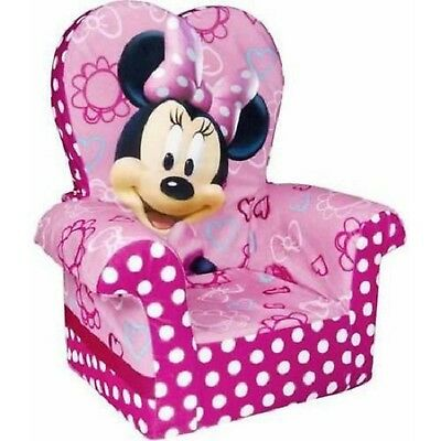 Marshmallow Furniture Minnie's Bow-Tique High-Back Chair, Pink, New