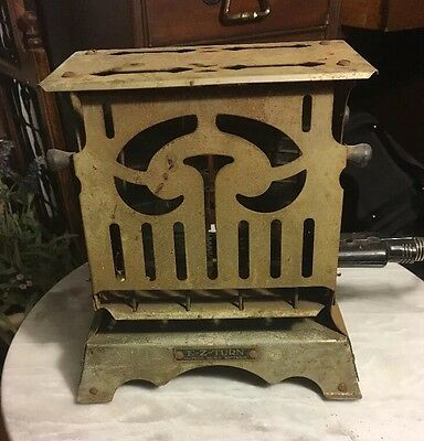 Antique E-Z Turn Toaster Rare 1920's Chicago Mfg Birtman Electric Co.