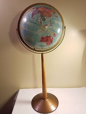"Vintage Replogle World Nation Series 12 inch Diameter Globe On Stand ""Floor"""