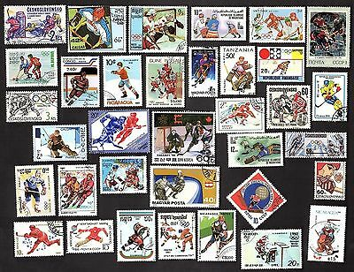 35 All Different Ice Hockey On Stamps