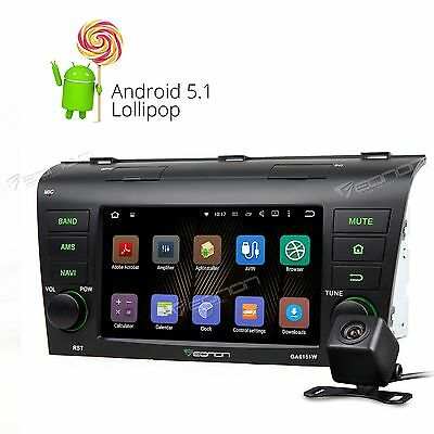"""Special for Mazda 3 7"""" HD Android 5.1 Car Radio Stereo F 3g GPS NAVIGATION CAM+"""