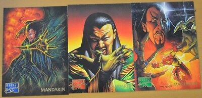 Marvel Masterpieces Trading Cards: Mandarin: 1995: Set of 3 (64, 65, 66)
