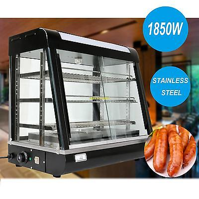 1850W Hotel Commercial Hot Food Warmer Display Cabinet Warming Showcase 3 Racks