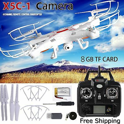 Quadcopter Drone RTF With HD Camera VR Dron Explorers X5C-1 2.4GHz 4CH 6 Axis VR