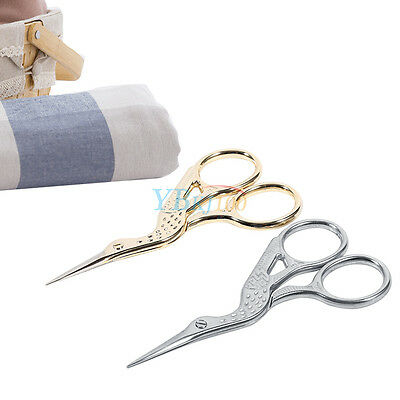 Stainless Steel Crane Shape Shears Fabric Craft Scissors Embroidery Sewing Tools