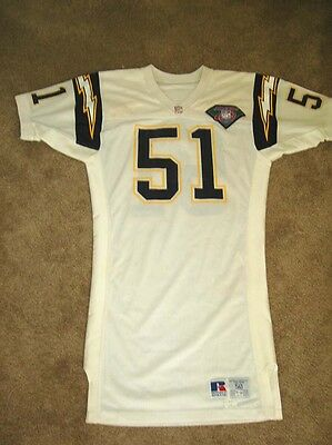 NFL San Diego Chargers Terry Crews Game Worn Used Jersey 75th Patch PSA DNA COA