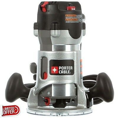 SALE Porter-Cable 892 2.25 HP Fixed Base Router Kit Corded Routers Peak 2-1/4