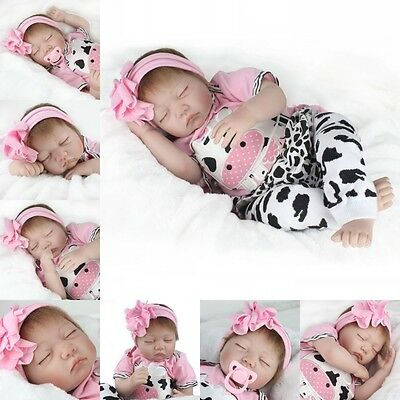 "22"" Real Life Girl Boy Toy Soft Silicone Reborn Newborn Lifelike Baby dolls Gift"