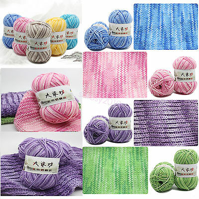 Wholesale!Popular Colors Super Soft Smooth Cotton Yarn hand dyed Knitting Yarn