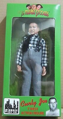 The Three Stooges 7 Inch mego style Action Figure Curly Joe Figures Toy Co. 1999