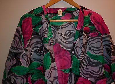 VINTAGE 1980s BRIAN ROCHFORD FLORAL COVER UP EXCELLENT CONDITION
