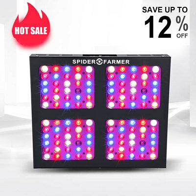 Spider Farmer Dimmable 600W LED Grow Light Full Spectrum Veg Bloom Dimmer Indoor