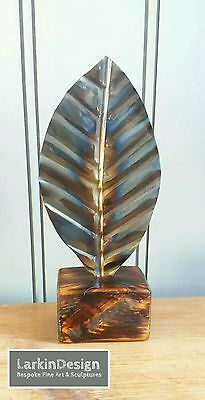 New Art Abstract Metal Leaf Polished Sculpture Home Decor Xmas Gift 28% Off Sale