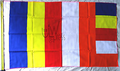 Buddhist Flag 23 Inch x 38 Inch | Five (5) Flags