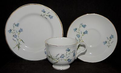 Sadler WELLINGTON Trio - Blue Bells and Gold Trim #3937 Multiple Avail