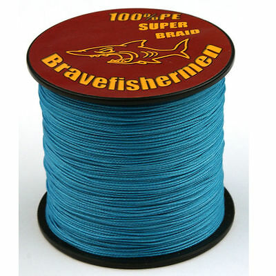 Blue 100%PE 4 strand Strength Dyneema Spectra 1000M 30LB Blue Fishing Braid Line