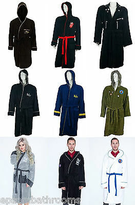 Unisex Adult Bathrobe / Dressing Gown Soft Fleece Officially Licensed