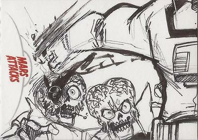 Mars Attacks Invasion - Unknown Artist Sketch Card