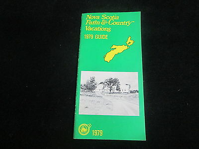 Nova Scotia   1979  (Farm & Country Vacations)   24 pages   Travel Brochure
