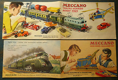 MECCANO 2 CATALOGUES 1953 et 1957 / TRAINS HORNBY / MINIATURES DINKY TOYS