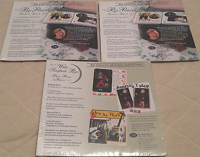 NEW LOT OF 3 CREATIVE MEMORIES 7x7 PAGE PROTECTORS, WHITE SCRAPBOOK PAGES 2002