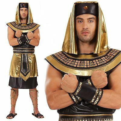 Ancient God Egyptian King Men Costume For Fancy Dress Party Adult