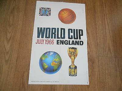 1966 World Cup  July 1966 England Poster  Carvasso  12.5 X 20