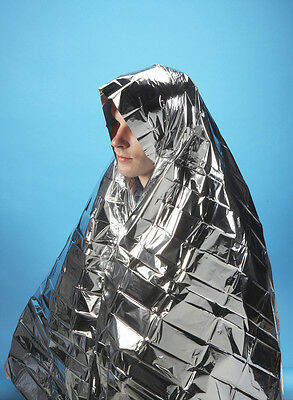 10 x Steroplast Emergency Foil Blankets. 130cm x 210cm. First Aid Kit Essential