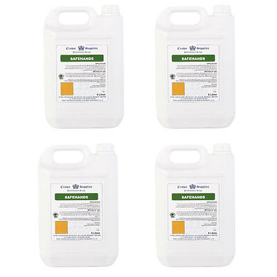 4 x 5 litres of SAFEHANDS antibacterial liquid soap