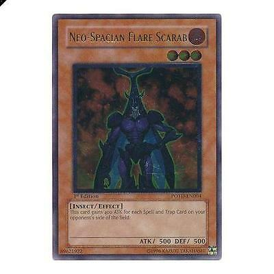 Yu-Gi-Oh! YuGiOh Ultimate Rare - Neo-Spacian Flare Scarab - POTD-EN004 Power of
