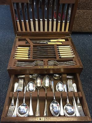 OLD ENGLISH Design 101 Piece Canteen of Cutlery  With Box And Key