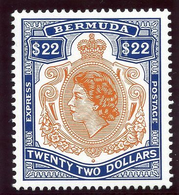 Bermuda 1996 QEII Express Stamp $22 orange & royal blue MNH. SG E1. Sc 732.